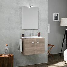 Meuble de salle de bain suspendu 2 portes évier