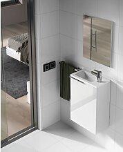 Meuble de salle de bain suspendu 40 cm laqué