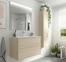 Meuble de salle de bain suspendu 80 cm Ulisse en