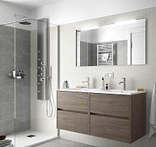 Meuble de salle de bain suspendue 120 cm en bois