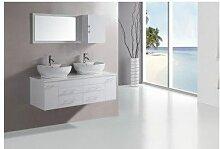 Meuble de salle de bain TAUSTE, blanc - Blanc