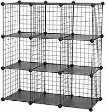 Meuble étagère rangement modulable grille 9