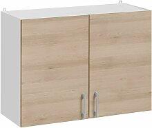 Meuble haut de cuisine - 2 portes, L 80 cm -