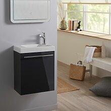 Meuble lave mains wc Gris anthracite + lave mains