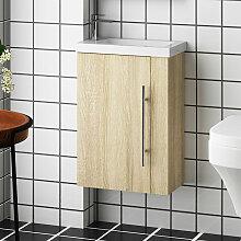 Meuble salle de bain 44x23x60cm 1 porte meuble