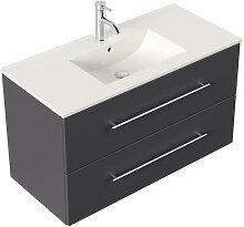 Meuble salle de bain Firenze 100 en anthracite