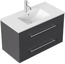 Meuble salle de bain Firenze 90 en anthracite
