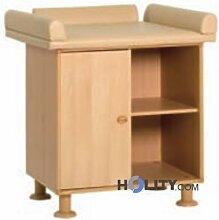 Meuble table à langer une place en bois h17501