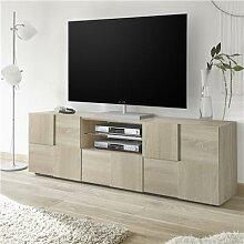 Meuble tv 180 cm couleur chêne clair ARTIC 3