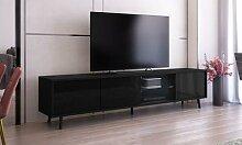 Meuble TV avec éclairage LED : Chêne