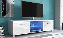 Meuble TV avec éclairage LED : Nova / Noir