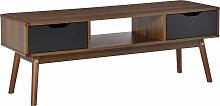 Meuble TV bas sur pieds style scandinave 2 tiroirs