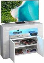 Meuble TV Blanc  - Banc TV d'angle avec