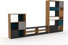 Meuble TV - Bleu pétrole, design, meuble hifi,