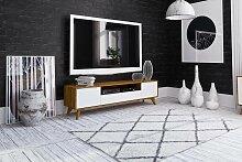 Meuble TV de style scandinave BIANCO Longueur - 180