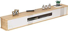 Meuble TV flottant armoire TV console routeur rack