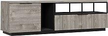 Meuble TV Hifi 1 porte 1 tiroir avec niches de