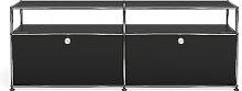 Meuble TV/Hifi USM Haller O2, Noir graphite