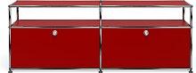 Meuble TV/Hifi USM Haller O2, Rouge rubis