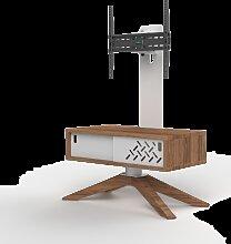 Meuble TV HyBo72 pieds bois avec porte Accessoires