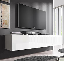 Meuble TV modèle Nora H2 (160 cm) blanc