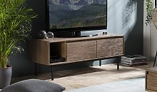 Meuble TV rétro en acacia et métal - Gustavo