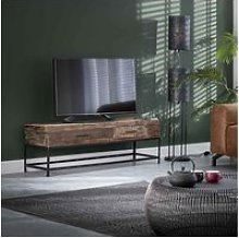 Meuble tv vintage en bois recyclé paul