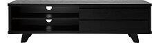 Meuble TV vintage noir avec tiroirs L140 cm FIFTIES