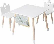 Meubles Bois, Table Enfants et chaise ou Bureau