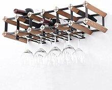 Meubles de bar à la maison - Wine Rack en bois 12