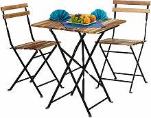 Meubles de jardin 2 chaises et 1 table pliable