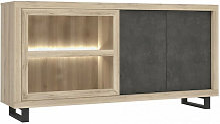 Meubletmoi - Buffet / vitrine finition chêne et