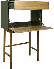 Meubletmoi - Bureau secrétaire 1 porte 1 tiroir