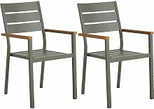 Meubletmoi - Lot de 2 chaises de jardin en