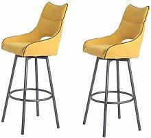 Meubletmoi Lot de 2 chaises Hautes de Bar Tissu