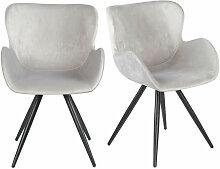 Meubletmoi - Lot de 2 chaises style scandinave