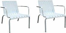 Meubletmoi - Lot de 2 fauteuils de jardin en