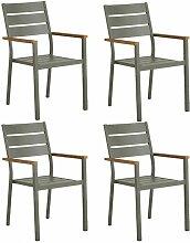 Meubletmoi - Lot de 4 chaises de jardin en