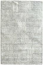 Meubletmoi - TAPIS gris/noir 160x230 laine - TARA