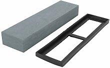 Meule de couteau avec base en silicone pierre à