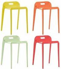 MGQ Ergonomique- Lot de 4 Chaises de bar