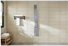 Mia : colonne de douche balnéo en inox micro-jets