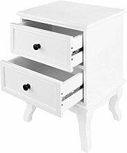 Miadomodo® Table de Chevet - 34 x 29.5 x 50 cm,