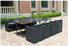 Miami 8c noir/noir : ensemble de jardin