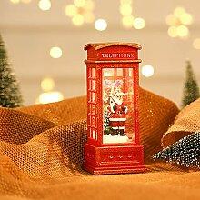 Mianbo Ornement de Noël Old Téléphone Booth