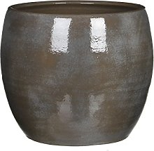 Mica Decorations 1002879 Lester Pot Ronde Gris F -