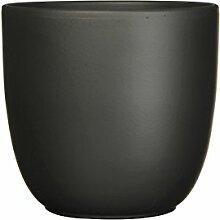 Mica Decorations 144280 Tusca Pot Ronde Noir Mat -