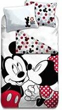 Mickey & Minnie Parure de lit Vintage - Housse de