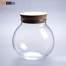 Micro bouteille de paysage en verre, Vase en
