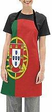 Miedhki Beau drapeau du Portugal Tablier de
